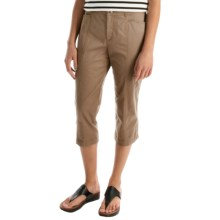 Stretch Cotton Capris (For Women) in Sand - 2nds