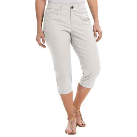 Stretch Cotton Capris (For Women) in White - 2nds