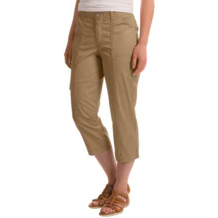 Stretch Cotton Cargo Capris (For Women) in Sandy - 2nds
