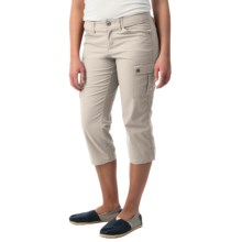Stretch Cotton Cargo Capris (For Women) in Stone - 2nds