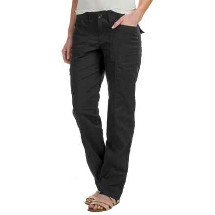 Stretch Cotton Cargo Pants (For Women) in Black - 2nds