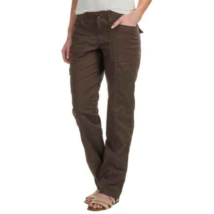 Stretch Cotton Cargo Pants (For Women) in Coffee - 2nds