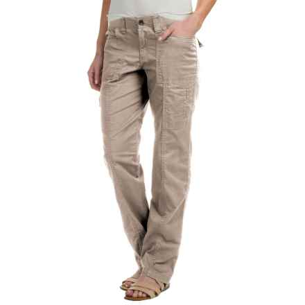 Stretch Cotton Cargo Pants (For Women) in Khaki - 2nds