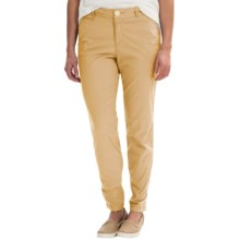 Stretch Cotton Pants - Flat Front (For Women) in Mustard - 2nds