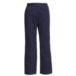 Stretch Cotton Pants (For Women) in Navy