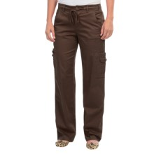 Stretch Cotton Poplin Cargo Pants (For Women) in Brown - 2nds
