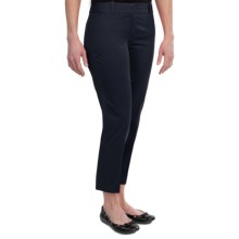 Stretch Cotton Sateen Ankle Pants (For Women) in Navy - 2nds