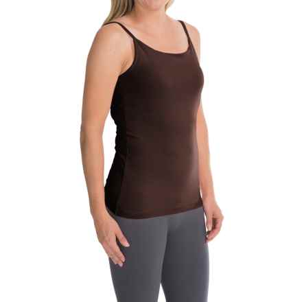 Stretch Cotton Shelf Bra Camisole (For Women) in Brown - 2nds