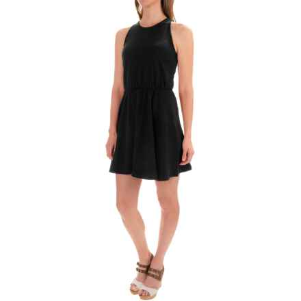 Stretch Cotton Skater Dress - Sleeveless (For Women) in Black - 2nds