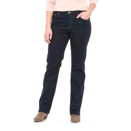 Stretch Cotton Straight-Leg Jeans (For Women) in Dark Wash - 2nds