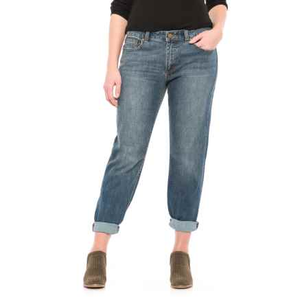 Stretch Cotton Straight-Leg Jeans (For Women) in Stone Wash - 2nds