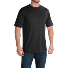 Stretch Cotton T-Shirt - Short Sleeve (For Men) in Black - 2nds