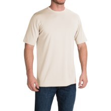 Stretch Cotton T-Shirt - Short Sleeve (For Men) in Natural - 2nds