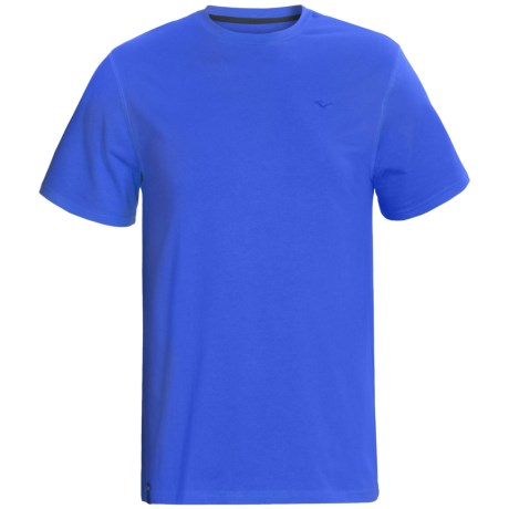 Stretch Cotton T-Shirt - Short Sleeve (For Men) in Royal Blue