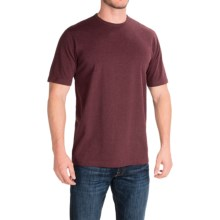 Stretch Cotton T-Shirt - Short Sleeve (For Men) in Wine Granite - 2nds