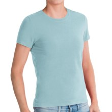Stretch Cotton T-Shirt - Short Sleeve (For Women) in Aqua - 2nds