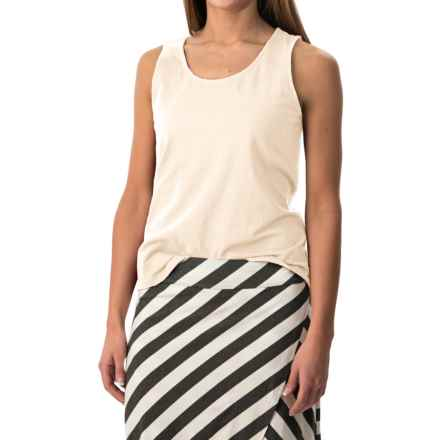 Stretch Cotton Tank Top (For Women) in Cream - 2nds