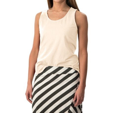 Stretch Cotton Tank Top (For Women)