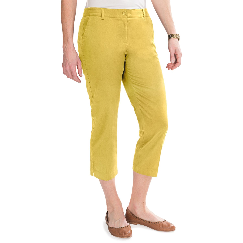 New Womenu0026#39;s Cotton Spandex Capri Pant | BELLA + CANVAS