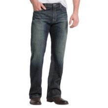 Stretch Denim Jeans - Bootcut (For Men) in Stone Washed Indigo - 2nds