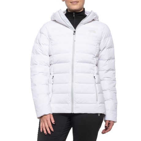 Stretch Down Hooded Jacket (For Women) - TNF WHITE (L )
