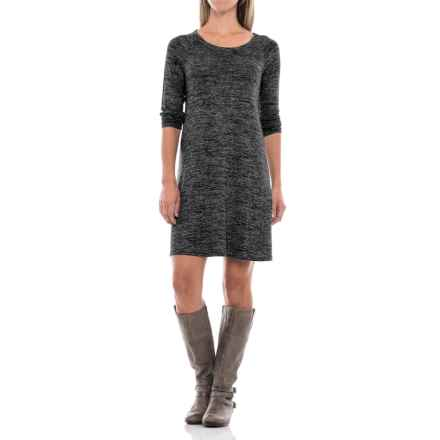 Stretch Jersey Raglan Dress - Long Sleeve (For Women) in Black Heather - 2nds