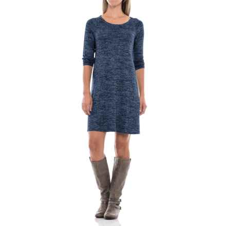 Stretch Jersey Raglan Dress - Long Sleeve (For Women) in Navy Heather - 2nds