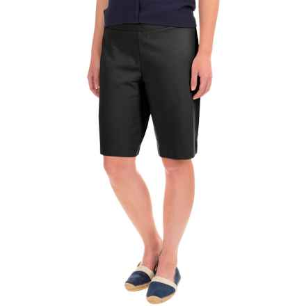 Stretch-Knit Bermuda Shorts (For Women) in Black - 2nds