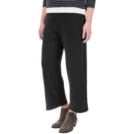Stretch-Knit Capris (For Women) in Black - 2nds
