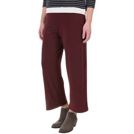 Stretch-Knit Capris (For Women) in Burgundy - 2nds