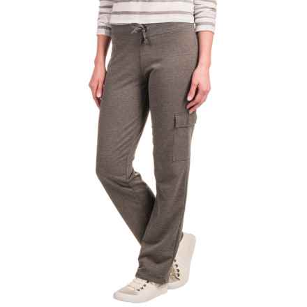 Stretch-Knit Cargo Pants (For Women) in Dark Grey Heather - 2nds