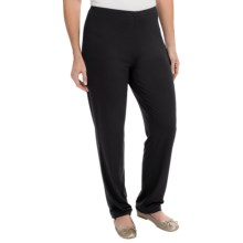 Stretch Knit Casual Pants (For Women) in Black - 2nds