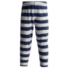 Stretch Knit Leggings (For Girls) in Blue/White Stripe - 2nds