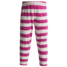 Stretch Knit Leggings (For Girls) in Pink/White Stripe - 2nds
