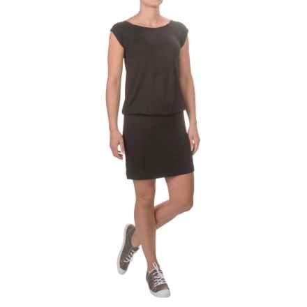 Stretch Knit Rayon Dress - Short Sleeve (For Women) in Black - 2nds