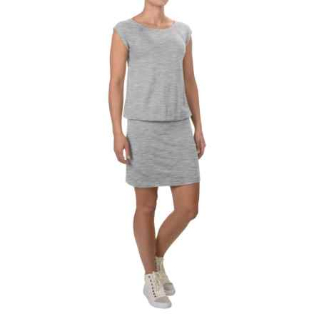 Stretch Knit Rayon Dress - Short Sleeve (For Women) in Grey - 2nds