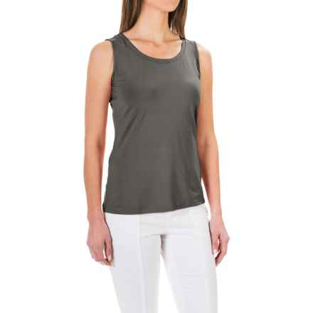 Stretch Knit Shirt - Sleeveless (For Women) in Charcoal - 2nds