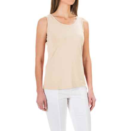 Stretch Knit Shirt - Sleeveless (For Women) in Ivory - 2nds