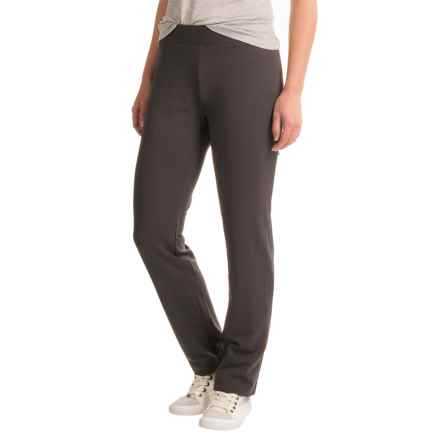 Stretch-Knit Straight-Leg Pants (For Women) in Charcoal - 2nds