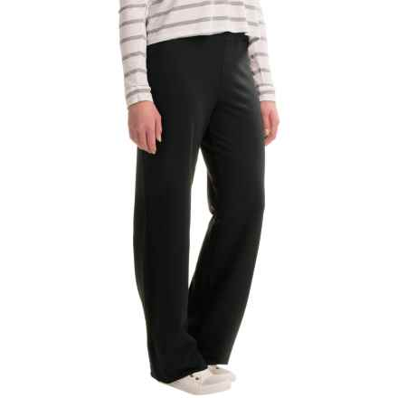 Stretch-Knit Wide-Leg Pants (For Women) in Black - 2nds