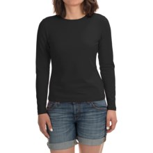 Stretch Modal-Cotton Shirt - Long Sleeve (For Women) in Black - 2nds