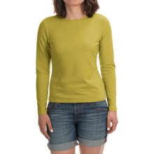 Stretch Modal-Cotton Shirt - Long Sleeve (For Women) in Green - 2nds