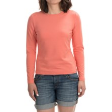 Stretch Modal-Cotton Shirt - Long Sleeve (For Women) in Orange - 2nds