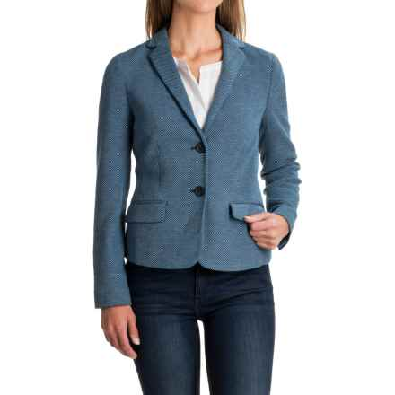 Stretch Pique Blazer (For Women) in Blue/White - 2nds