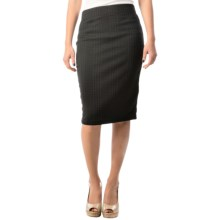 Stretch Plaid Jacquard Skirt (For Women) in Black - 2nds