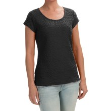 Stretch Puckered Shirt - Short Sleeve (For Women) in Black - 2nds