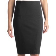 Stretch Rayon Pencil Skirt (For Women) in Black - Closeouts
