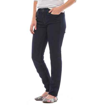 Stretch Skinny Jeans (For Women) in Dark Wash - Closeouts
