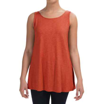 Stretch Slub Jersey Tank Top (For Women) in Adobe - 2nds