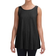 Stretch Slub Jersey Tank Top (For Women) in Black - 2nds
